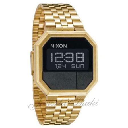 Reloj dorado Nixon Re-Run de mujer