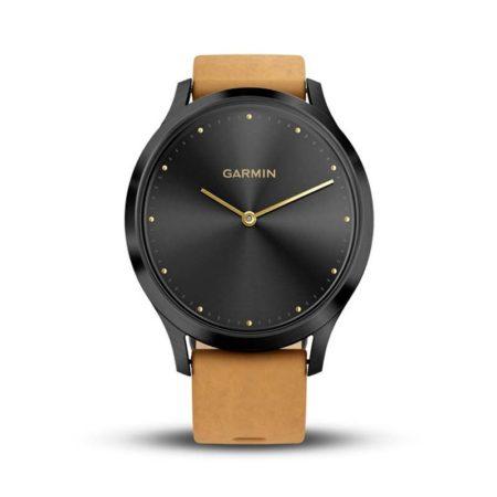 reloj-garmin-vivomove-hr-negro-cuero-marron-claro-010-01850-00